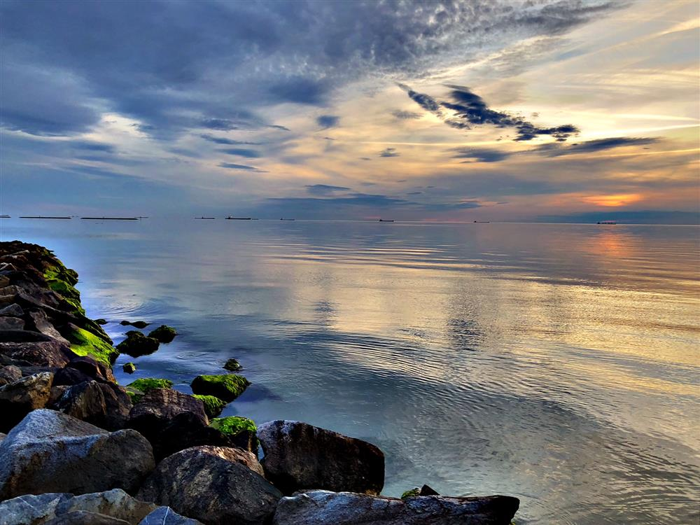Sunset over Jetty_spring